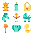 Newborn baby stuff icons set vector image vector image
