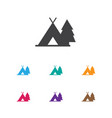 of camping symbol on journey vector image vector image
