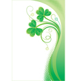 Patrick background with shamrock vector image vector image