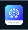 pentacle satanic project star mobile app button vector image vector image