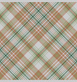 plaid green gold color seamless fabric texture vector image vector image