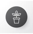 plant pot icon symbol premium quality isolated vector image vector image