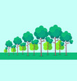 poster depicting forest trees vector image vector image