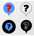 question eps icon with contour version vector image vector image