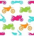 Retro motorcycle seamless pattern vector image vector image