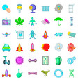 scientist icons set cartoon style vector image vector image