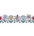 seamless floral border scandinavian style vector image