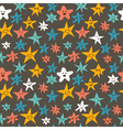 seamless pattern with cute smiley little stars vector image
