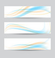 set of banner templates modern abstract vector image vector image
