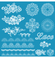 Set of lace ribbons flowers