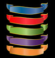 set of luxurious ribbons vector image vector image