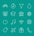Set of web line icons 2 vector image vector image