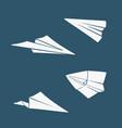 set symbols paper airplane vector image vector image