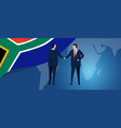 south africa international partnership diplomacy vector image vector image
