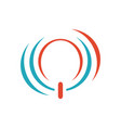 stylish power button logo design icon symbol for vector image
