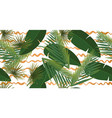summer tropical palm leaves seamless pattern on vector image