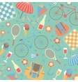 Summertime vacations and traveling background vector image vector image