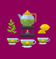 tea ceremony traditional asian drink vector image vector image