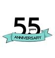 template logo 55 years anniversary