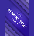 weekend sale dynamic promotional poster vector image