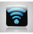 wifi globe vector image vector image