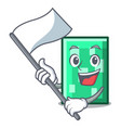 with flag rectangle mascot cartoon style vector image
