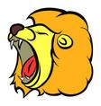 lion head icon cartoon vector image