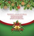 christmas background traditional straw decorations vector image