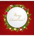 Merry Christmas Festive Card vector image