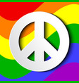 gbt flag with white peace sign vector image