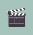 movie clapper in flat style vector image