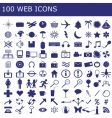 100 icons for web applications vector image vector image