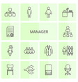 14 manager icons vector image vector image