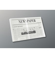 3d business newspaper on white background concept vector image