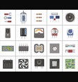 a set of electronic parts and components vector image vector image