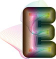 Abstract colorful Letter E vector image vector image