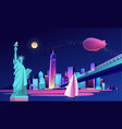 abstract neon city vector image vector image