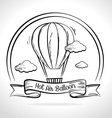 Air balloon over white background vector image vector image