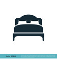 bed hotel icon logo template design eps 10