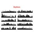 Big City Skylines vector image