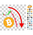 bitcoin epic fail trend icon with bonus vector image vector image