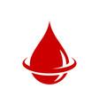 blood drop logo blood donation save life vector image