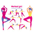 body workout set pack of body parts woman doing vector image vector image