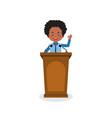 business character speak on podium vector image vector image