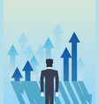 businessman arrows success vector image