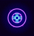 car tire neon sign vector image vector image
