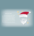 card christmas day santa claus paper cut out hat vector image vector image