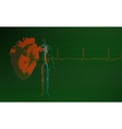 Cardiology background green vector image