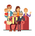 cartoon style family isolated on white background vector image vector image