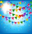 celebration card template against blue background vector image
